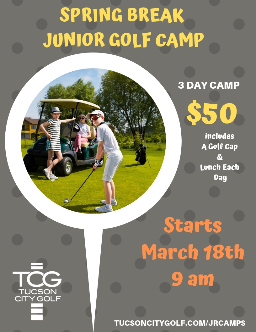 Image of the flyer for Spring Break Junior Golf Camp